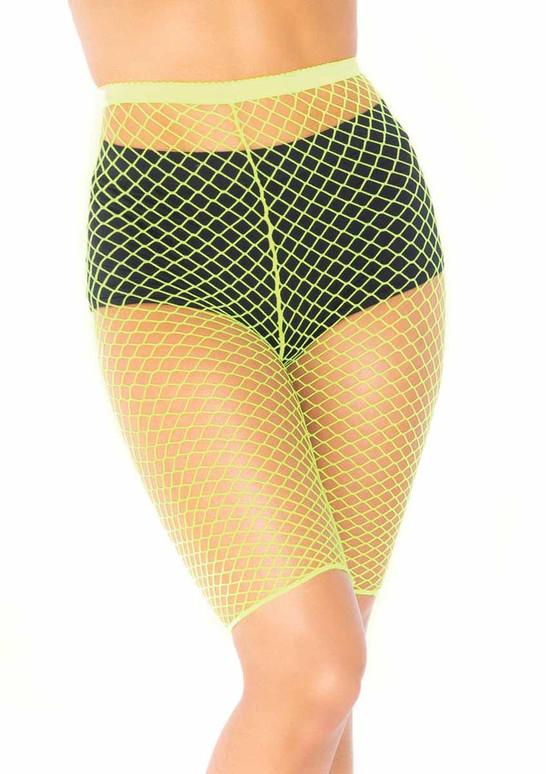 Leg Avenue | LA8882, Industrial Net Biker Shorts color neon green