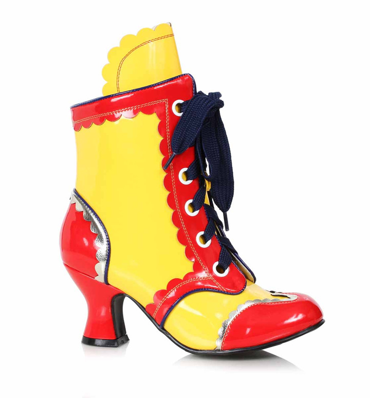 254-Bubbles, Women's Clown Shoes color Yellow/Red by Ellie 1031