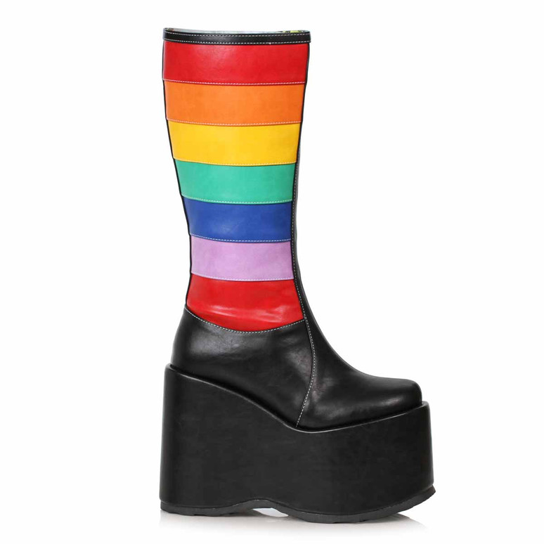 Ellie Boots | 500-JADA, Chunky Black Rainbow Boots