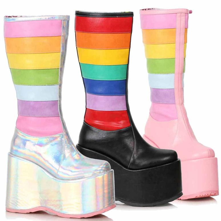 500-JADA, Chunky Rainbow Boots by Ellie