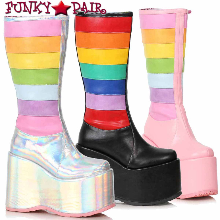 Ellie Boots | 500-JADA, Chunky Rainbow Boots