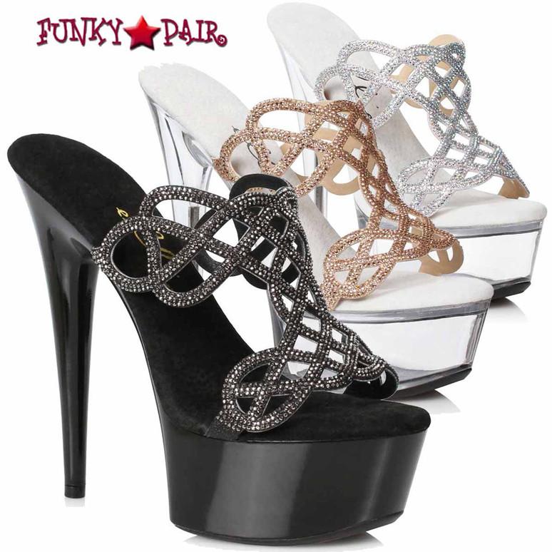 Ellie Shoes | 609-SABRINA, Rhinestones Mule Sandal
