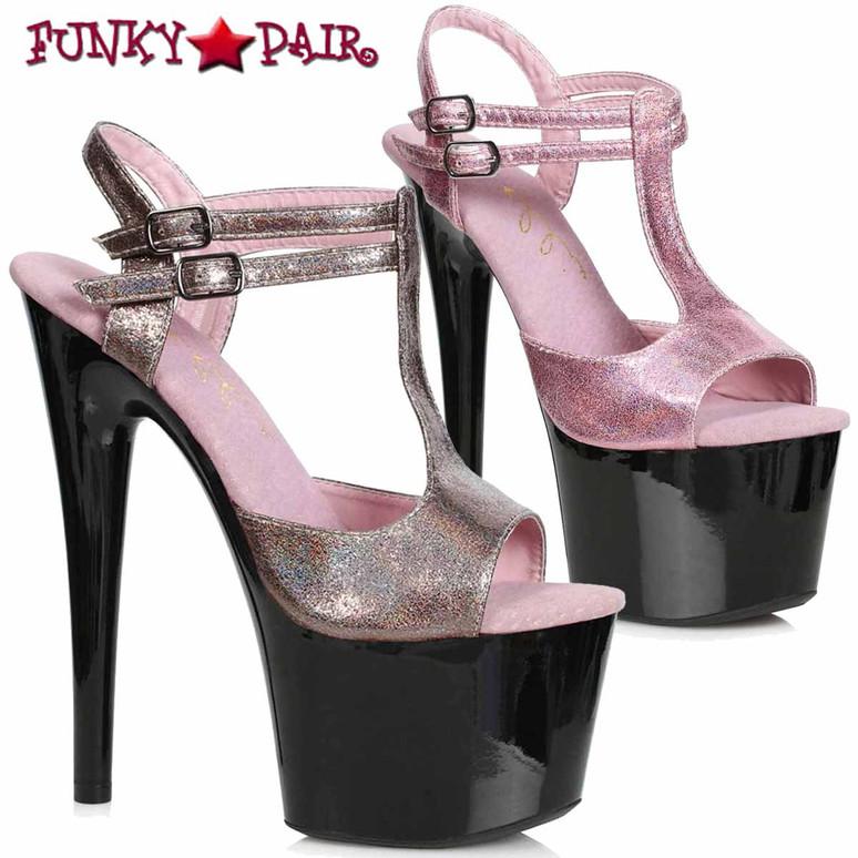 Ellie Shoes   709-ZAYA, T-Strap Shimmer Sandal