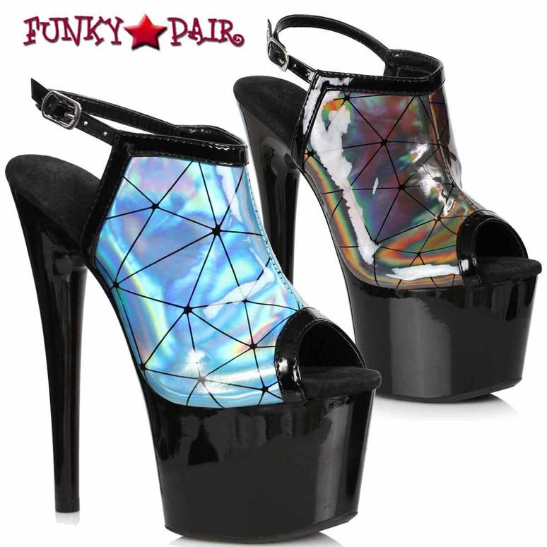 Ellie Shoes | 709-ZION, Holographic Sandal