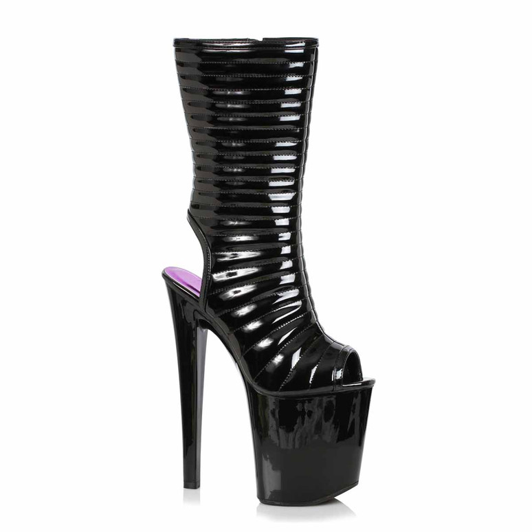 Stripper Boots | 821-MELISSA, Open Toe Ankle Boots