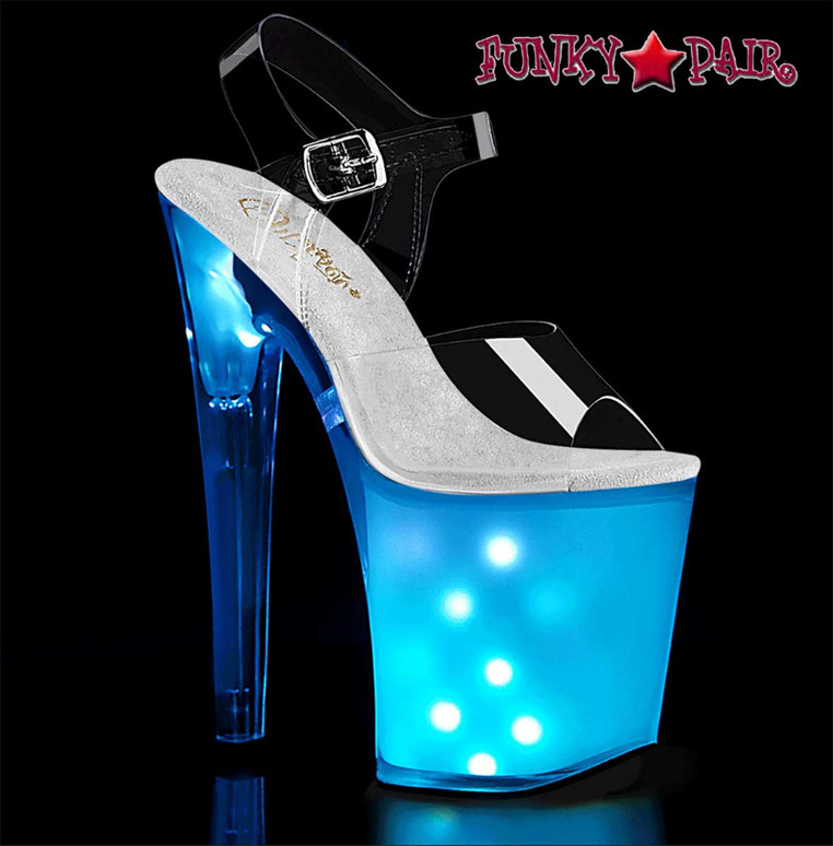 Exotic Dancer Disco Lite Sandal by Pleaser Discolite-808