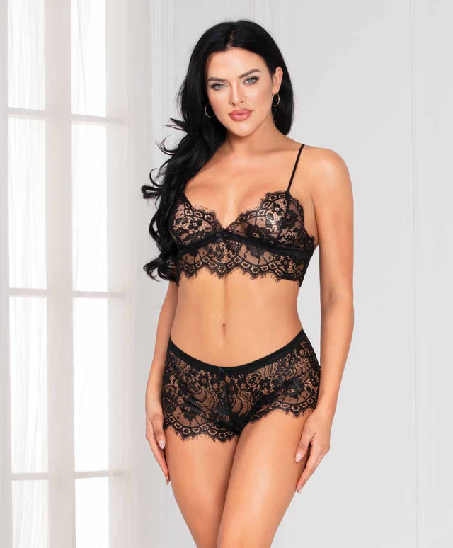 STM-11127, Lace Bralette Set by Seven Til Midnight