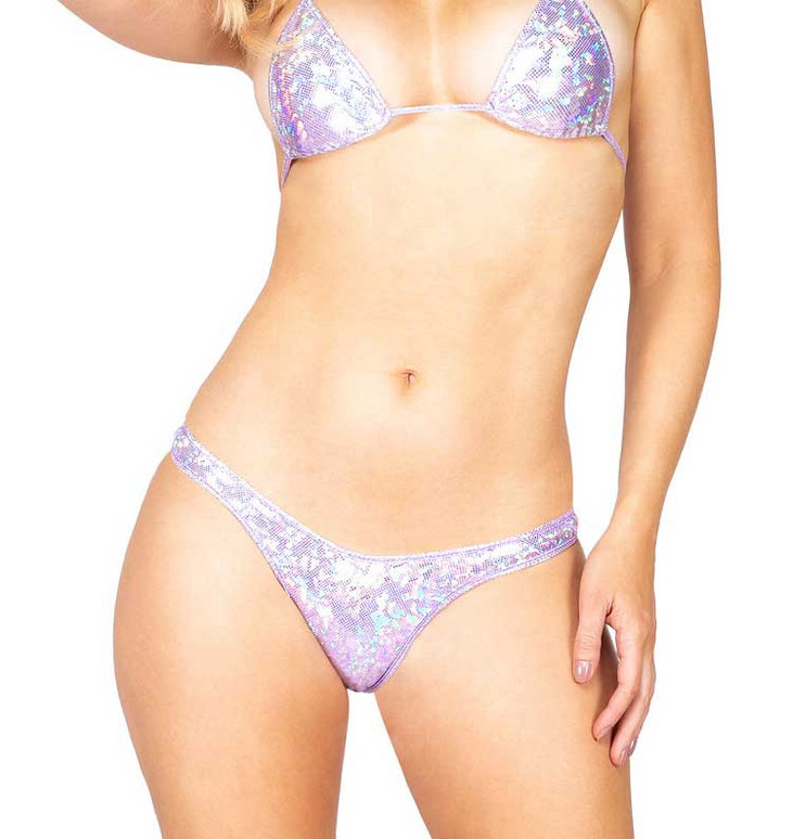 R-3858, Lavender IRIDESCENT T-BACK BOTTOMS by Roma Costume