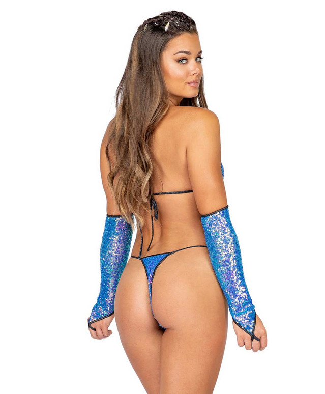 Roma R-3906, SEQUIN MICRO BOTTOMS back view