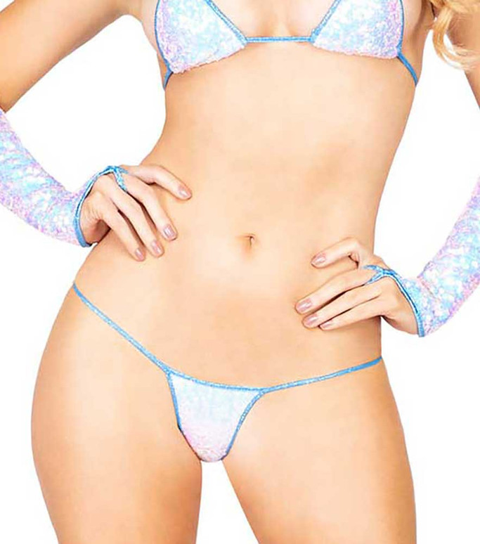R-3906, SEQUIN MICRO Light Blue BOTTOMS by Roma