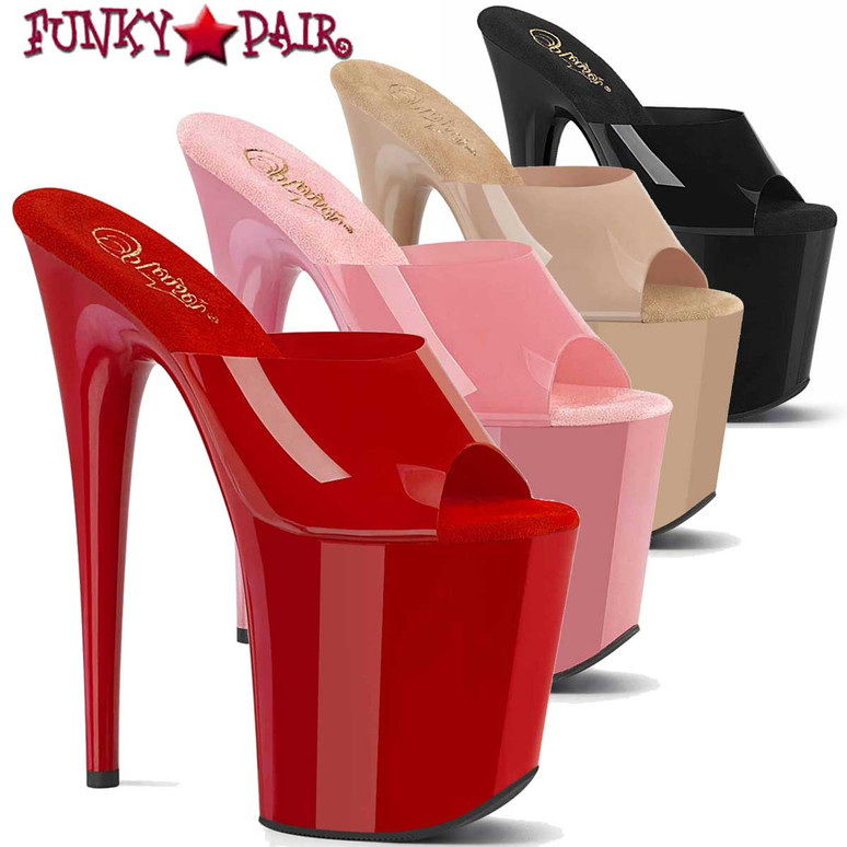 Pleaser | Flamingo-801N, 8 Inch Platform Slide