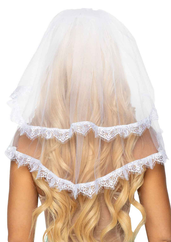 Leg Avenue LA2762, Bridal Veil back view