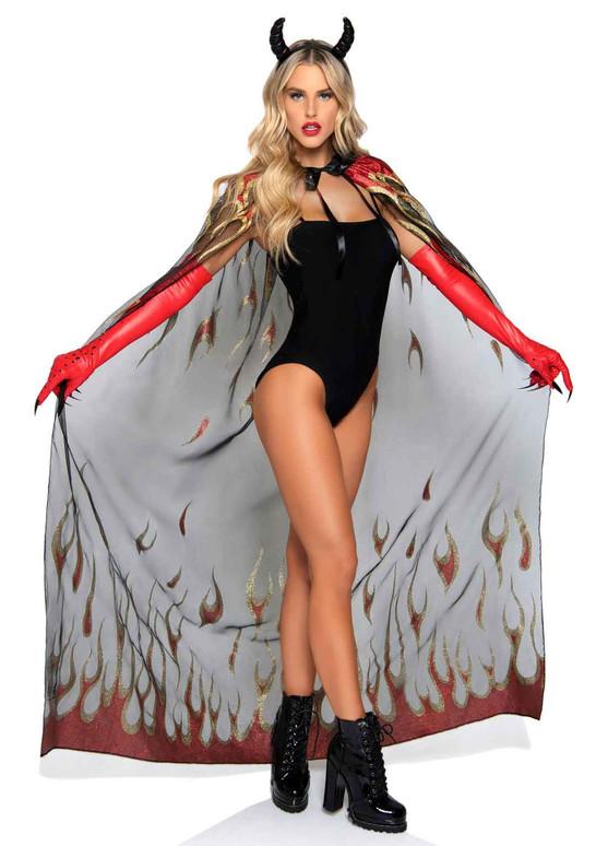 Leg Avenue LA2763, Glitter Flame Devil Cape