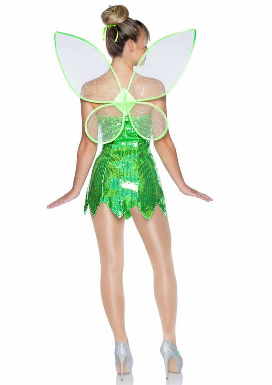 Leg Avenue   LA-86938, Green Fairy Costume back view