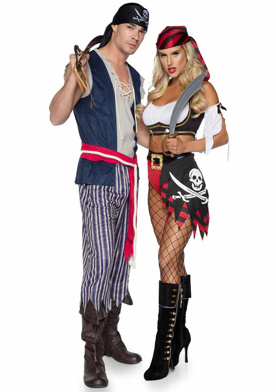 LA86940, Men's Plank Walking Pirate Costume With 86906 by Leg Avenue