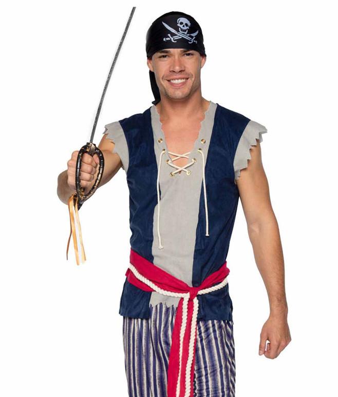 Leg Avenue   LA86940, Men's Plank Walking Pirate Costume