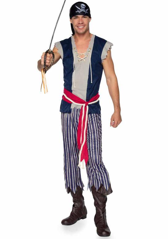 LA86940, Men's Plank Walking Pirate Costume Full view by Leg Avenue
