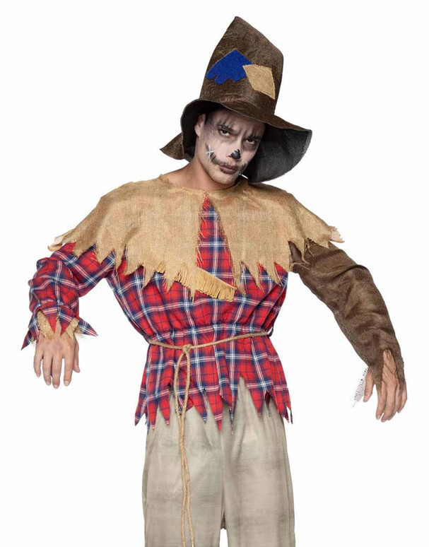 LA86944, Sinister Scarecrow Men Costume by Leg Avenue