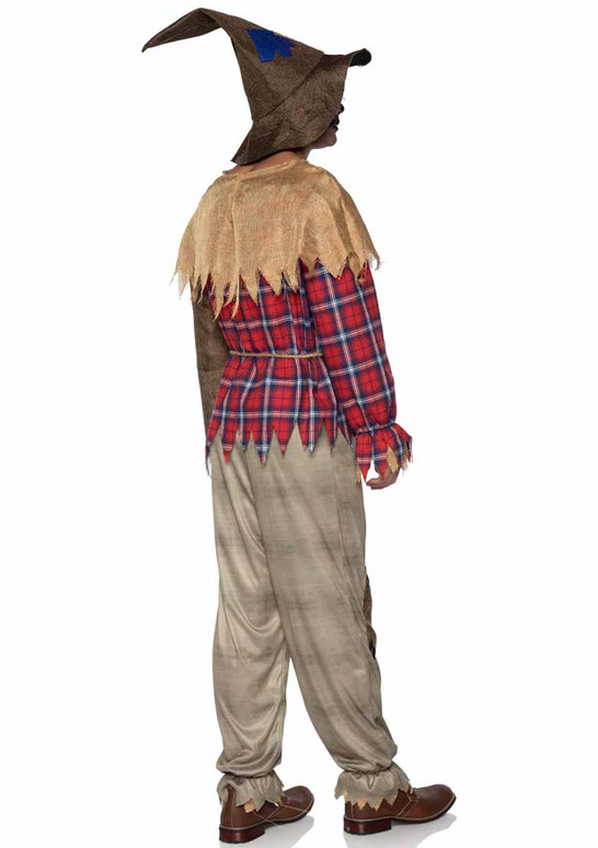 LA86944, Sinister Scarecrow Men Costume back view by Leg Avenue