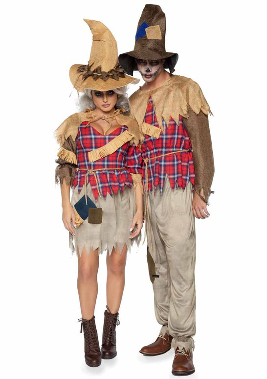 LA86944, Sinister Scarecrow Men Costume with women scarecrow LA86943 by Leg Avenue