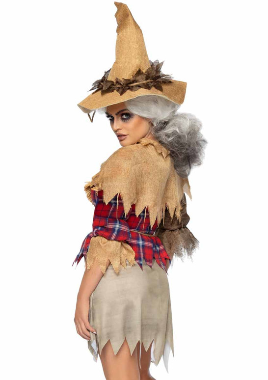 Leg Avenue | LA86943, Sinister Scarecrow Costume back view