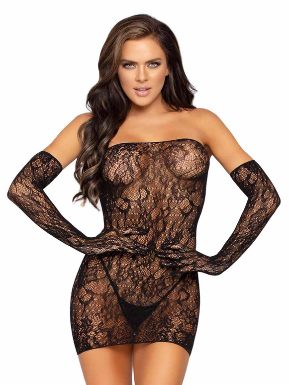 LA86957, Lace Tube Dress Set by Leg Avenue