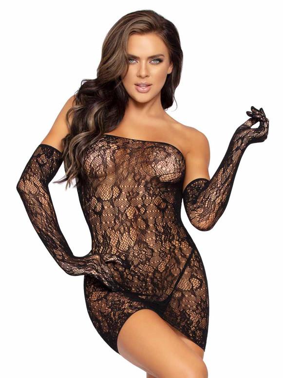 Leg Avenue | LA86957, Lace Tube Dress Set