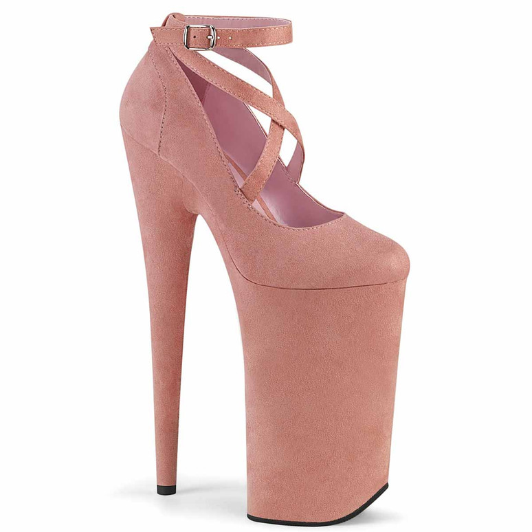 """Beyond-087FS, 10"""" Baby Pink Extreme High Heel Platform Mary Jane Shoes by Pleaser"""