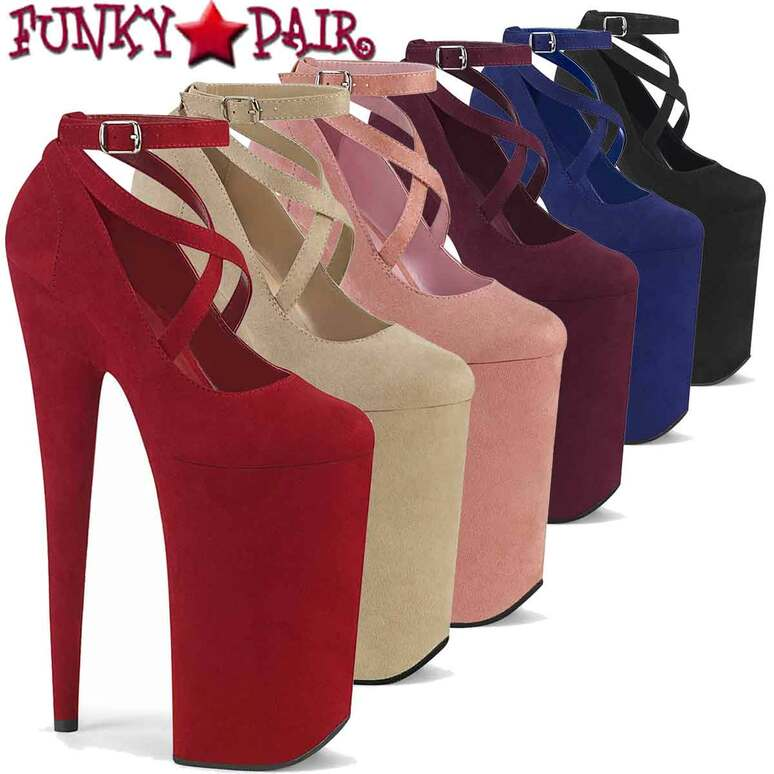 "Pleaser | Beyond-087FS, 10"" Extreme High Heel Platform Mary Jane Shoes"