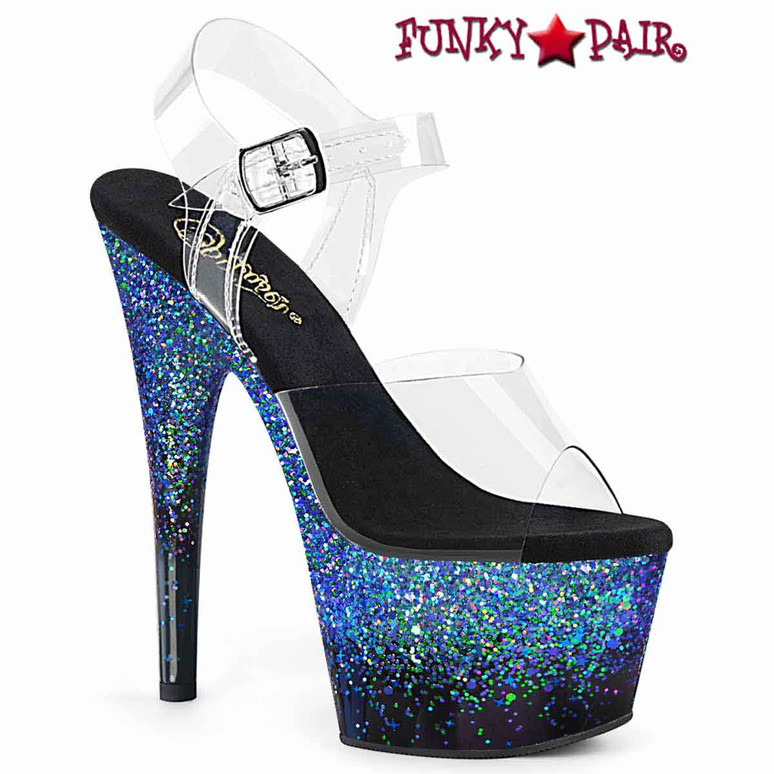 Pleaser | Adore-708SS, Ankle Strap with Holographic Effect