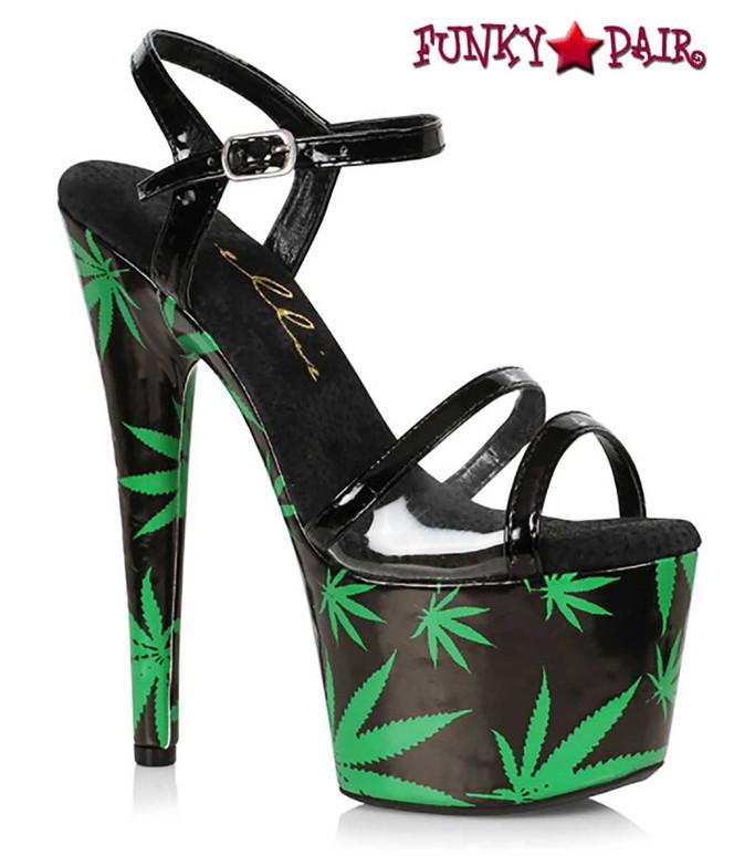 Ellie Shoes   709-Ashley, 7 Inch Leaf Platform Sandal