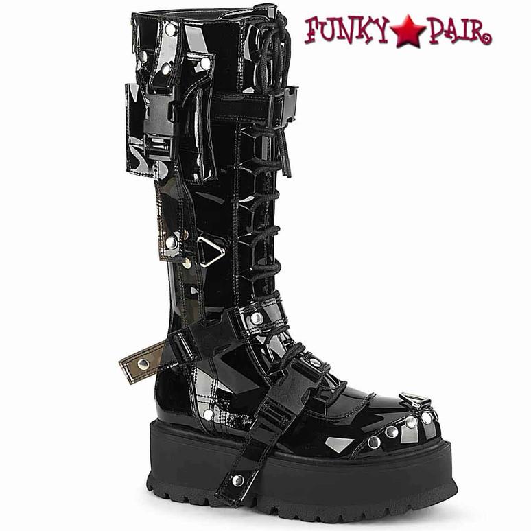 Demonia | SLACKER-260, Knee High Boots with Cargo Side Pockets