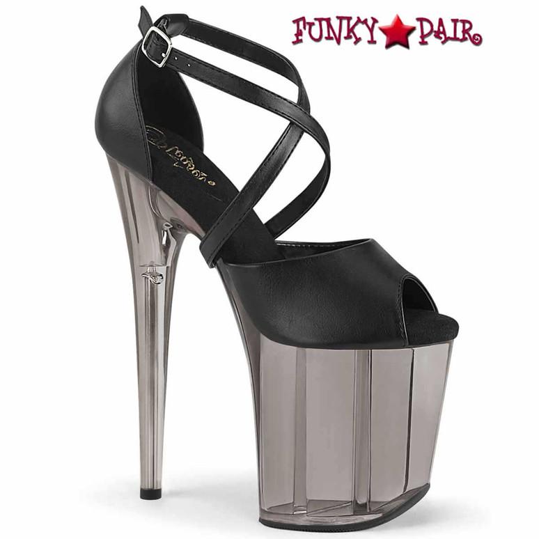 "Pleaser | FLAMINGO-840T, 8"" Peep-Toe Sandal with Tint Platform"
