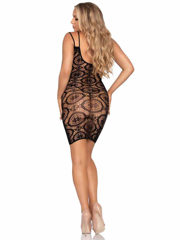 Leg Avenue | LA86961, Daisy Crochet Mini Dress Back View