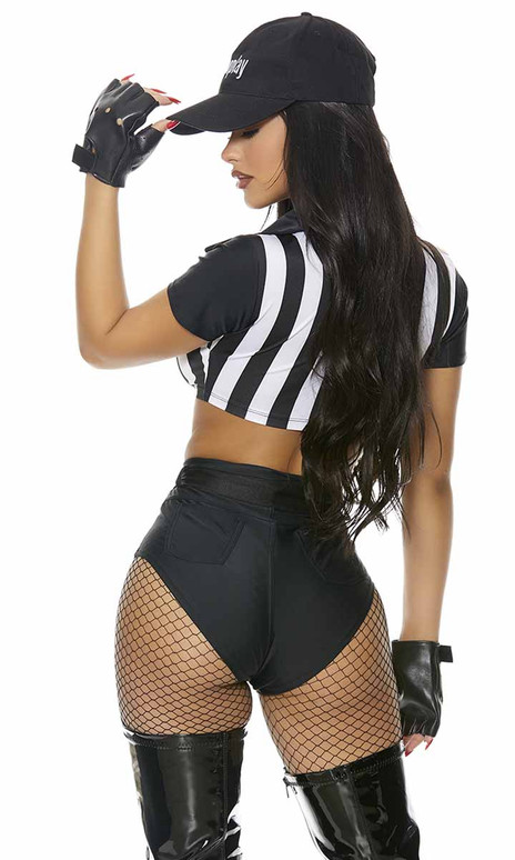 ForPlay   FP-551559, It's Your Call Sexy Referee Costume Back View