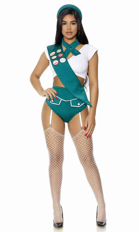 FP-551519, Scout Me Out Sexy Girl Scout Costume Full View By ForPlay