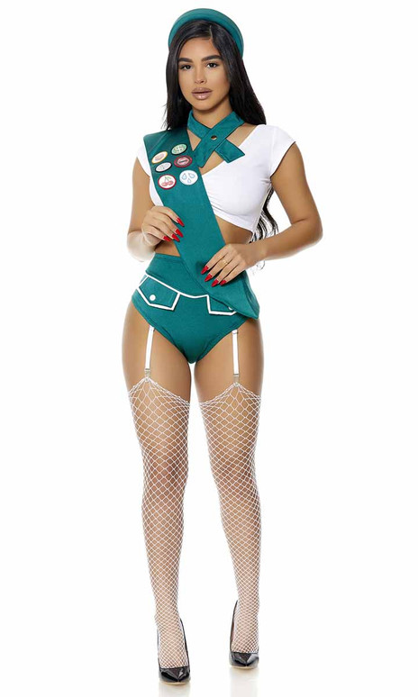 FP-551519, Scout Me Out Sexy Girl Scout Full View Costume By ForPlay