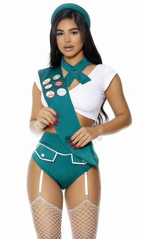 FP-551519, Scout Me Out Sexy Girl Scout Costume By ForPlay