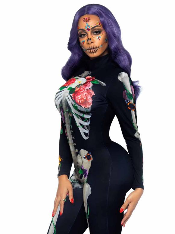 Floral Skeleton Catsuit By Leg Avenue LA87066