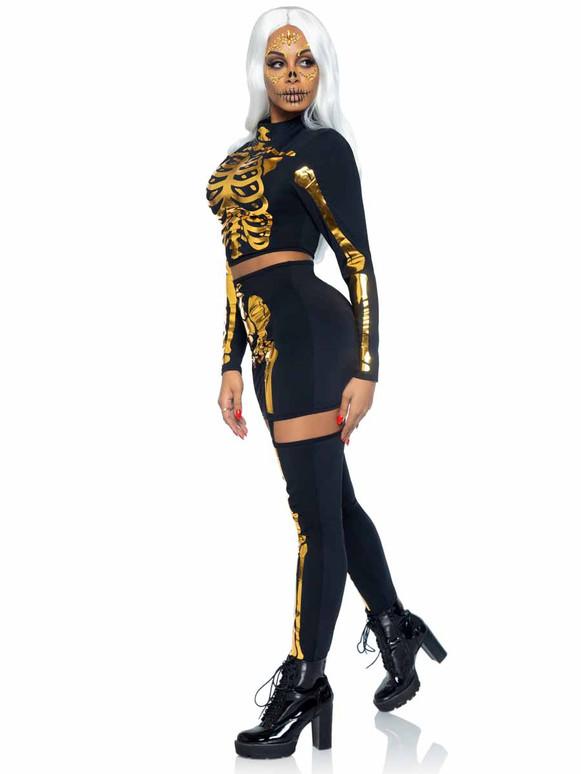 Leg Avenue Golden Skeleton Set LA87061