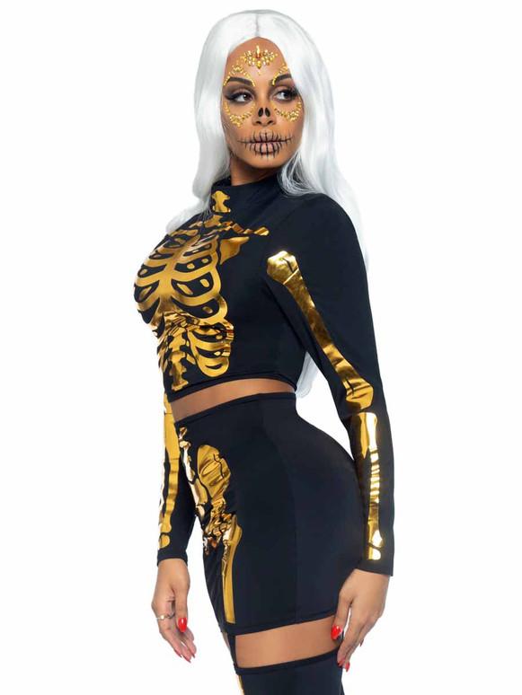 Golden Skeleton Set by Leg Avenue | LA87061