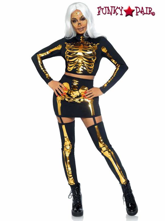 Leg Avenue | LA87061, Golden Skeleton Set