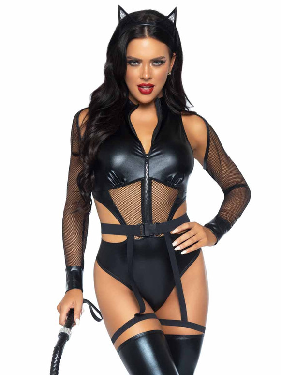 LA86994, Criminal Kitty Costume By Leg Avenue