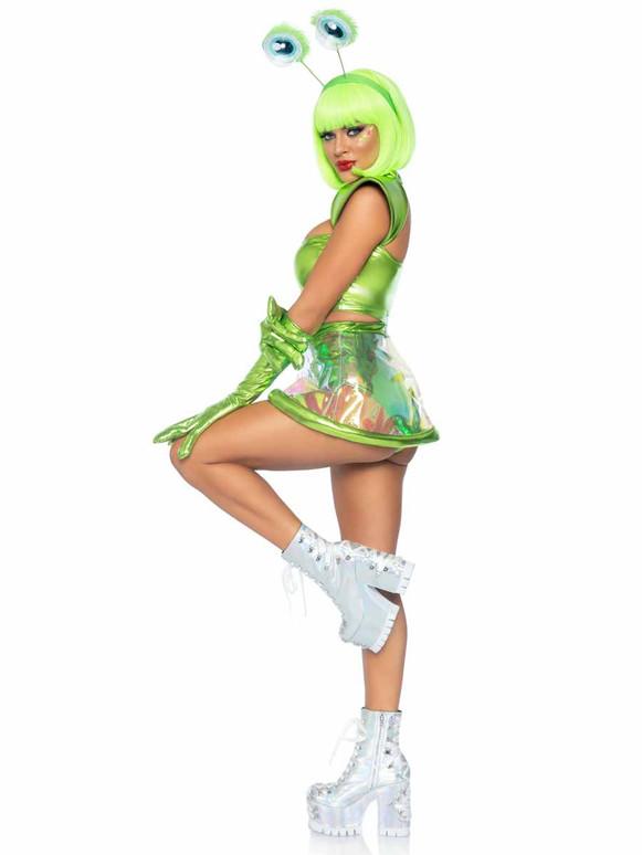 LA87067, Beam Me Up Babe Costume Side View Leg Avenue