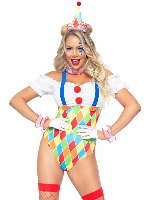 LA86982, Clown Cutie Costume By Leg Avenue