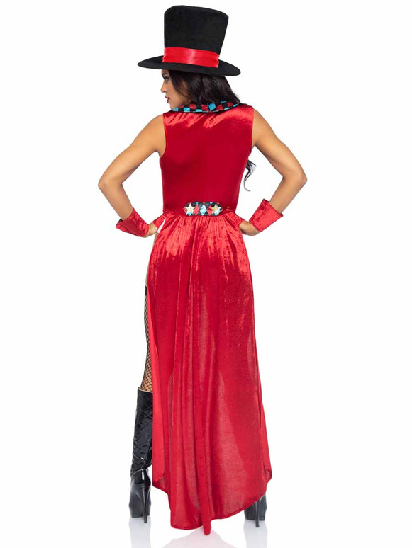 LA86993, Ring Mistress Costume Back View By Leg Avenue