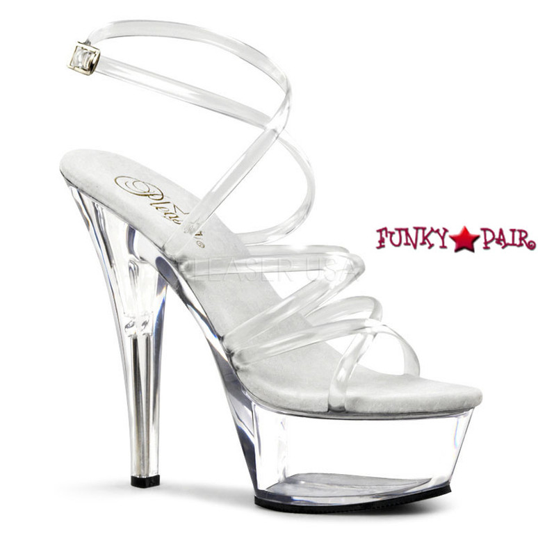 Stripper Shoes KISS-206, 6 Inch Heel Strappy Platform Shoes