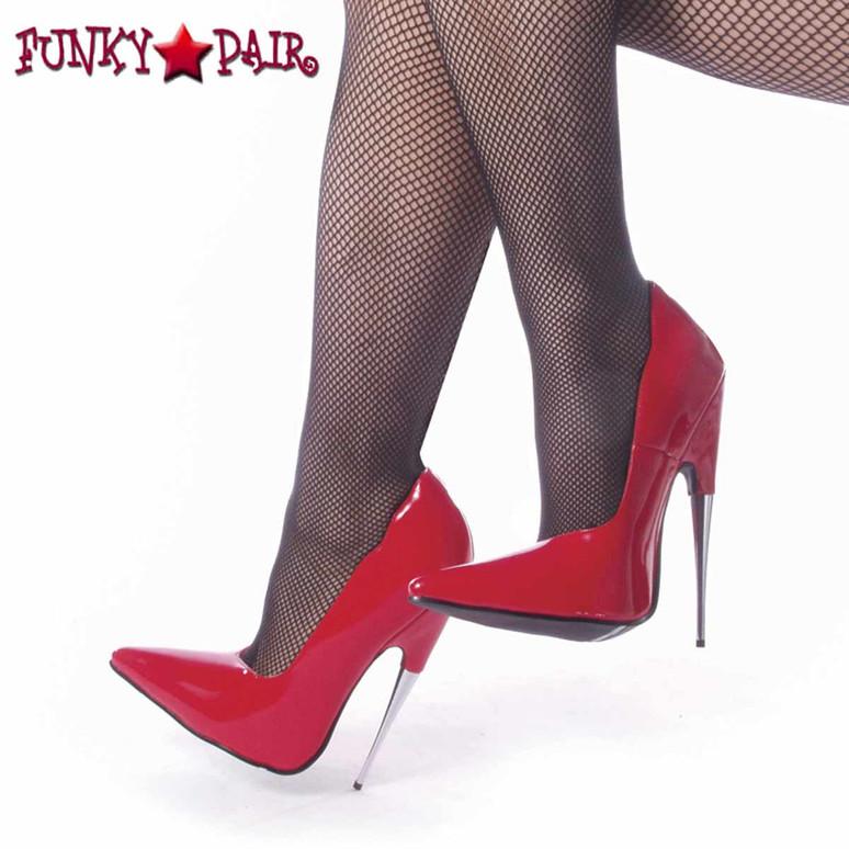 Devious SCREAM-01RP, Red 6 Inch Stiletto Fetish Heels