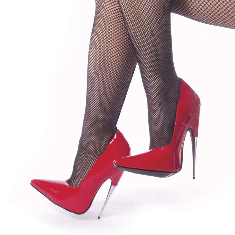 SCREAM-01RP, 6 Inch Red Stiletto Fetish Heels by Devious