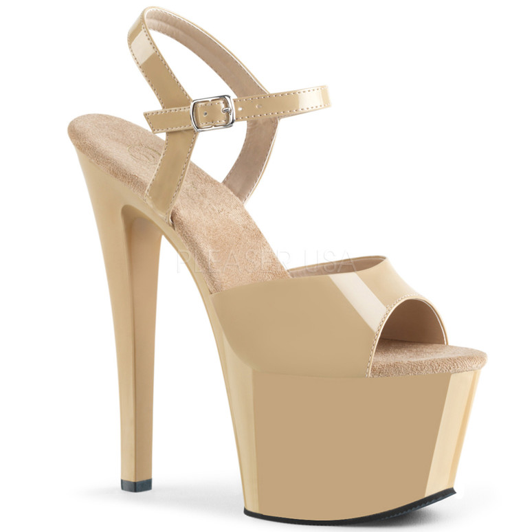SKY-309, Exotic Dancer Shoes color cream